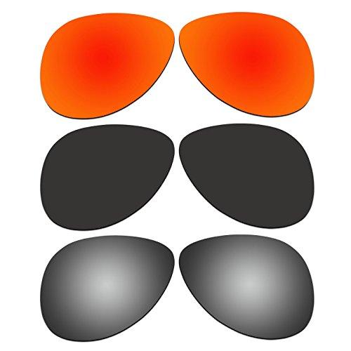 d6806bd89943d Amazon.com   ACOMPATIBLE 3 Pair Replacement Polarized Lenses for Oakley  Elmont Medium 58mm Sunglasses OO4119-xx58 Pack P2   Sports   Outdoors