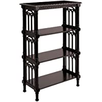 Sterling 6040239 Cheval Traditional Asian Hardwood Bookcase, 46-1/4-Inch, Espresso
