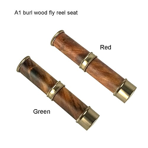 Z Riverruns Classic Design Nature Stabilize Burl Wood Fly Rod Reel Seat A Light Weight Down Lock Nickle Silver Finish Fresh Water (A1 - Wood Stabilize