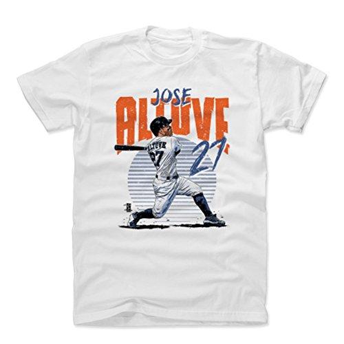 500 LEVEL Jose Altuve Cotton Shirt XXX-Large White - Houston Astros Men's Apparel - Jose Altuve Rise B