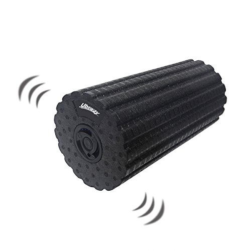 UBOWAY Electric Vibrating Foam Roller 4 Speed Rechargeable High Density Massager for Exercise, Yoga, Trigger Point, Cycling, Running, Stretching, Muscle Therapy