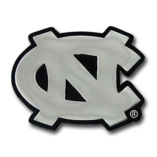 North Carolina Tar Heels Premium Solid Metal Chrome Plated Car Auto - North Premium Carolina Outlets