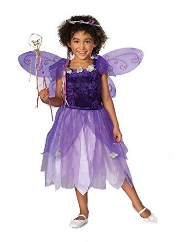 Children's Purple Magical Woodland Fairy Pixie Costume - Size Medium (8-10)