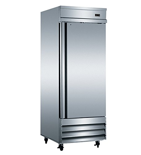 """Price comparison product image EQ Kitchen Line CFD-1RR 1 Door Commercial Reach-In Refrigerator, 172 gal , 82.5"""" Height, 32.25"""" Width, 29"""" Length, Stainless Steel, Silver"""