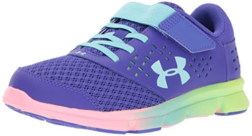 Under Armour Girls' Pre School Rave Prism Adjustable Closure, Constellation Purple (530)/Quirky Lime, 2.5 by Under Armour