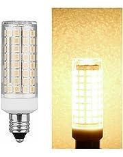 Corn Bulb E11 E12 Dimmable LED Lights Mini 102 LEDs Corn Lamps 9W Replace 80W Halogen Lamps Chandelier Base 220V 110V for House Living Room (Ausstrahlen von Farbe : Warmes Weiß, Farbe : E11)
