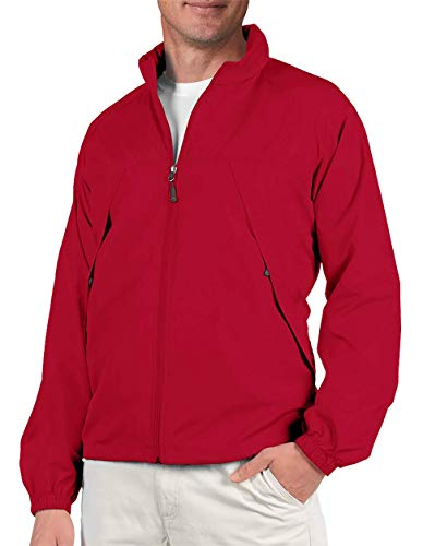 SCOTTeVEST Mens Pack Windbreaker Jacket - 19 Pockets - Spring Jackets for Men (RED M) ()