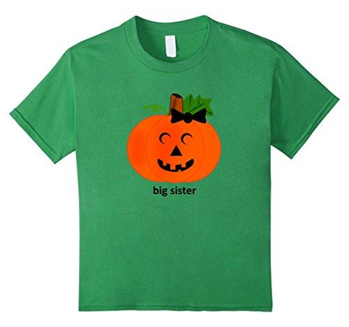 Kids Cute Big Sister Pumpkin T-Shirt Halloween Costume Tshirt 10 (Cute Sisters Halloween Costumes)