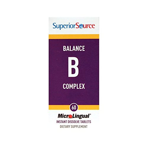 Nutritional Vitamin B-complex - Superior Source Balance B Complex with extra Folic Acid and Biotin Nutritional Supplements, 60 Count