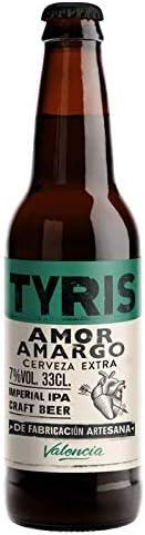 Cerveza artesana Tyris Amor Amargo- Pack 12 botellas x 330 ml