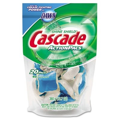 Cascade Action Pacs, Dishwashing Pods, Dawn Fresh, 0.6 oz, 20/Pack