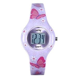 """Amazon.com: Lucky Kids Digital Watch """"Butterflies"""", Girls"""