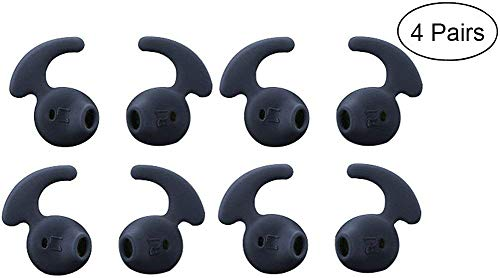 Samsung Eargel Earbud Tips Lunies Anti-Slip Soft Silicone Sport Running Earphone Covers for Samsung Galaxy S6 9200 S7 Edge Note 5 Earbuds 4 Pairs Black