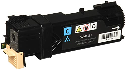 (Genuine Xerox Standard Capacity Cyan Toner Cartridge for use with the Xerox WorkCentre 6505/Phaser 6500- Part# 106R01591)