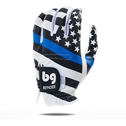 USA Blue Line Mesh Golf Glove