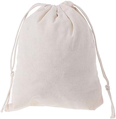 Xuniu Bolsos de algodón Natural cordón, Bolsa de Almacenamiento de ...