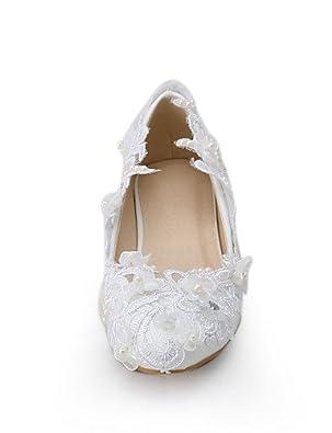 15f2d883db51f5 Ggx/Chaussures Femme Tissu Talon compensé compensées talons Mariage/fête &  Soir/robe Blanc - - under 1in-us10.5/eu42/uk8.5/cn43,: Amazon.fr: Chaussures  et ...