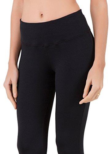Queenie Ke Women Power Stretch Plus Size High Waist Yoga Pants Running Tights Size XS Color Midnight Black Long