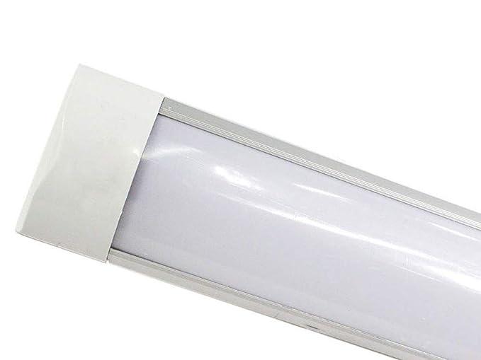 Plafoniera Led Slim.Vetrineinrete Plafoniera Led Slim Sottopensile Tubo Neon 9 19 28 38 Watt 30 60 90 120 Cm Luce Naturale 4000 K Per Soffitto Mensole Ripiani 30cm 9w