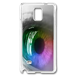 VUTTOO Rugged Samsung Galaxy Note 4 Case, Colorful Eye PC Plastic Hard Case Cover for Samsung Galaxy Note 4 N9100 PC Transparent
