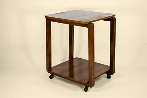 Riverside Deck Chair Set (Mid-century Modern Wood Minimalist Medium TEA TROLLEY Old Brown Vintage English Circa 1950 LS)