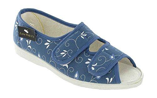 Mirak Molly Canvas Sandal Ladies Summer Shoes Blue F28OUZ9e