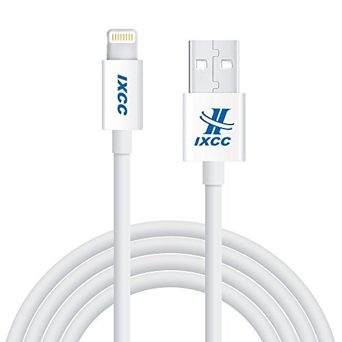 Extra Long iPhone Charger Cable, iXCC 10 Feet Lightning 8pin to USB Charge and Data Cord for iPhone SE/5/5s/6/6s/6s Plus/7/7 Plus/iPad Mini/Air/Pro [Apple MFi Certified]-White