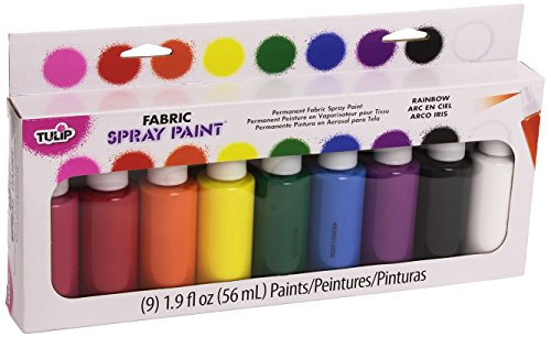 Aerosol Fabric Paint (Tulip 29069 Fabric Spray Paint, 9-Pack)
