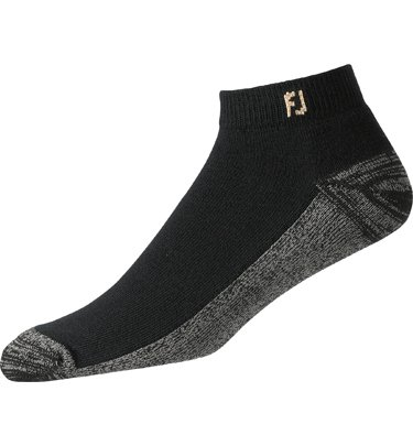 Golf Socks - FootJoy ProDry Mens Sport Socks (2 Pair) - Black (7-12)