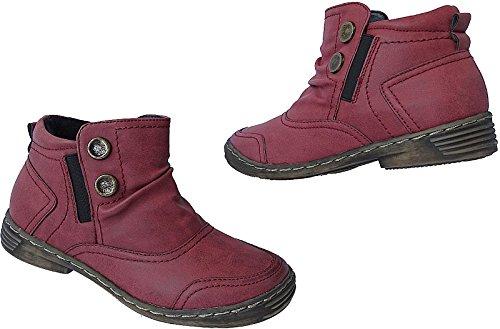 Damen Schuhe Winter Boots Stiefeletten Stiefel Gr.36 - 41 Art.Nr.3106 rot