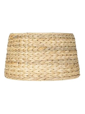 Upgradelights All Natural Woven Seagrass 19 Inch Floor or Table Lampshade Replacement -