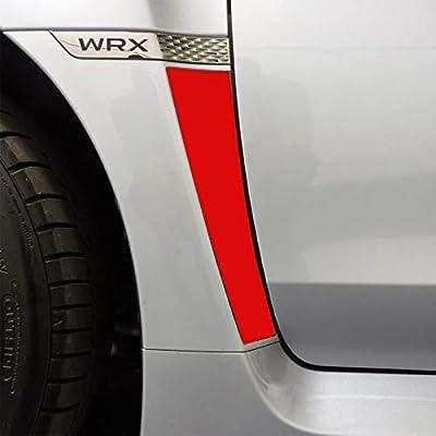 Xotic Tech Matte Red Fender Vent Overlays Vinyl Sticker Trim for Subaru WRX STI 2015-2020: Automotive