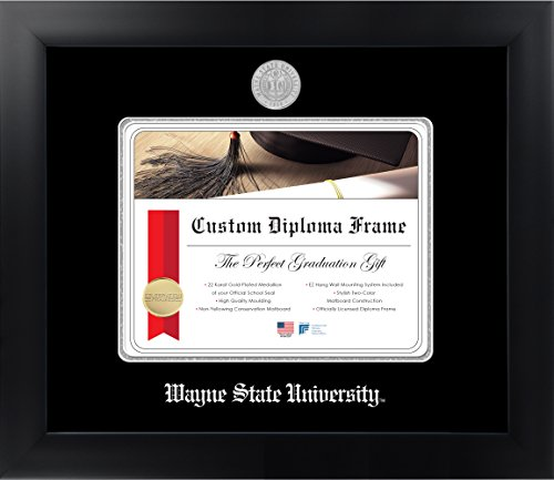 Wayne State University 8 x 10 Matte Black Finish Infinity Diploma Frame by Celebration Frames by Celebration Frames