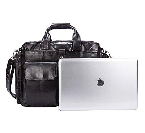 Genda 2Archer Leder Büro Handtasche Retro Messenger Bag für Männer
