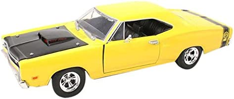 Motormax, gotzmm73315yl Maßstab 1: 24 gelb 1969 Dodge Coronet Super Bee spritzgußmodell Auto