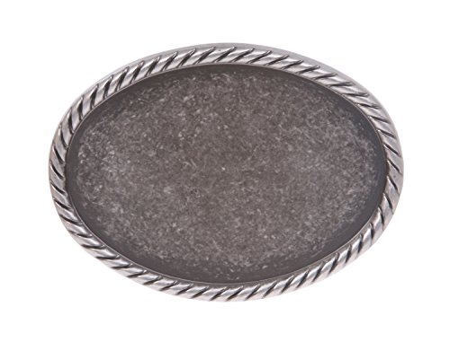 Plain Oval Pewter Belt Buckle