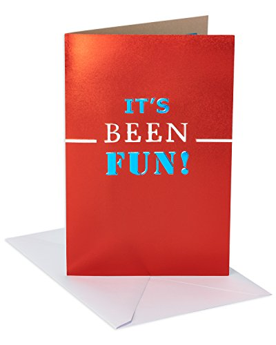 American Greetings Funny Damn You Goodbye Good Luck Congratulations Card with Foil