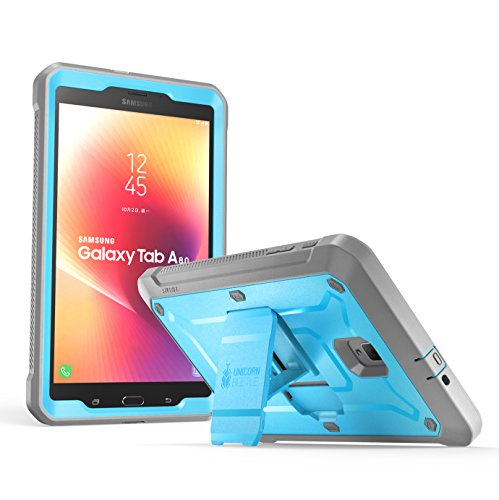 Galaxy Tab A 8.0 Case 2017, [NOT Fit 2015 Tab A 8.0 SM-T350] SUPCASE [UB PRO] Full-Body Rugged Protective Case with Built-in Screen Protector for Samsung Galaxy Tab A 8.0 SM-T380/T385 (2017) (Blue)