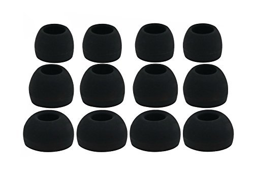(12pcs (ALL-B) 4S / 4M / 4L Replacement Adapters Earbuds Ear Tips Compatible with Motorola VerveLoop, VerveLoop+, VerveRider, VerveRider+,Moto Surround,SF600, S11 S-11 HD, S-11 Flex HD)