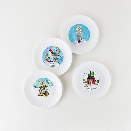 christmas appetizer 75 in melamine plates set of 4