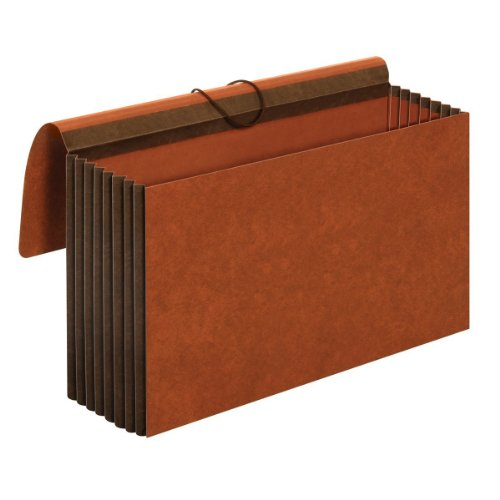 Heavy Duty Accordion Wallet - Globe-Weis/Pendaflex Heavy Duty File Wallets, Extra Wide, 7-Inch Expansion, Elastic Cord Closure, Legal Size, Brown, 5-Count (CL1087GLHD)