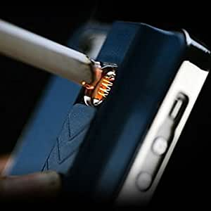 Special Design Purity Metal Pattern with Lighter Function Back Case for iPhone 5/5S(Assorted Color) , Blue
