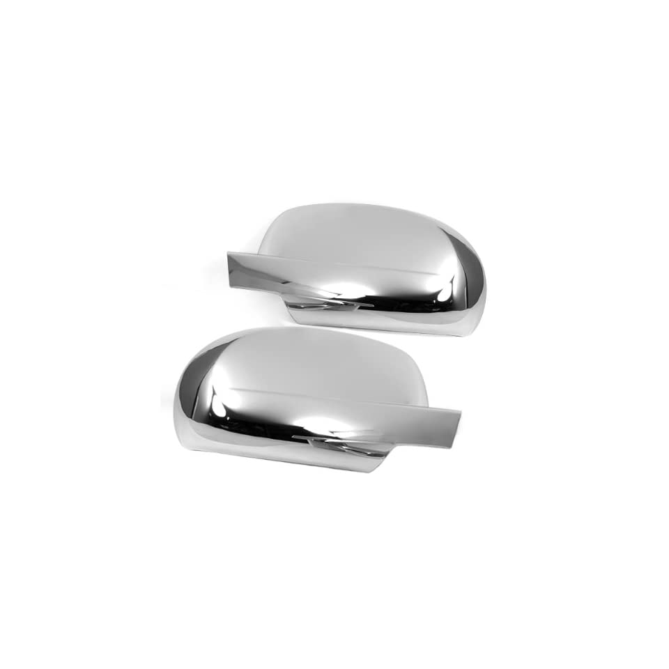 Triple Chrome Side Door Mirror Cover Trims Moulding for 07 11 Chevy Chevrolet Avalanche Silverado Suburban Tahoe GMC Sierra Yukon Cadillac Escalade 2007 2008 2009 2011 Brand NEW On Sale with 3m Adhesive Tape