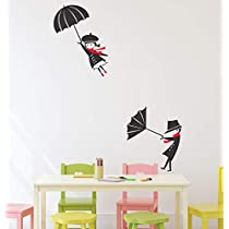 Solimo Wall Sticker for Living Room (Rain Rain Go Away, Ideal Size on Wall - 65 cm x 84 cm)