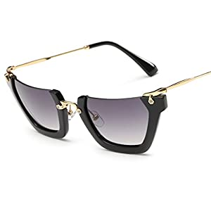sunglasses ladies personality half frame frog mirror new,C5 jelly white