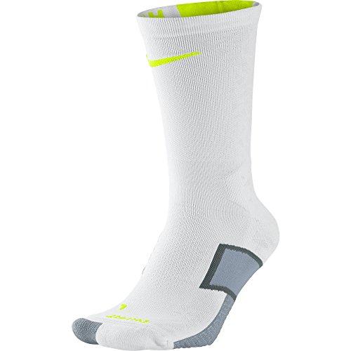 Nike Men's Match Fit Elite Hypervenom Socks (M, Grey/Volt/White) (Nike Elite Soccer Socks Green)
