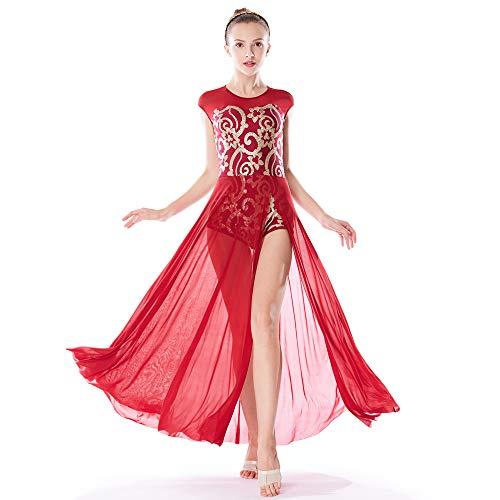 Acrobatics Dance Costumes - MiDee Lyrical Dress Dance Costume Floral