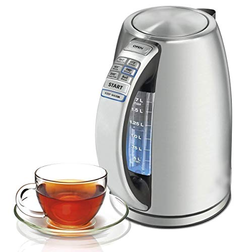 Start the Morning, Cordless Electric Kettle Stainless Steel