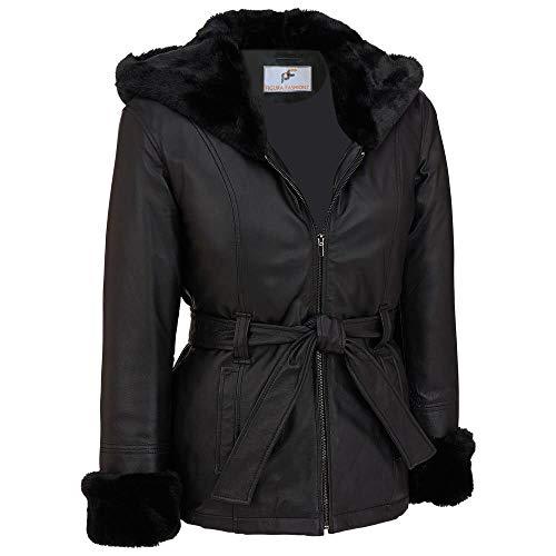 FF's Furry Lambskin Leather Jacket for Women - Lambskin Leather Jacket with Hood
