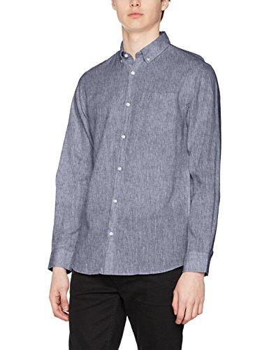 JACK & JONES Jorbech Shirt Ls, Camisa para Hombre Azul (Total Eclipse Fit:reg)